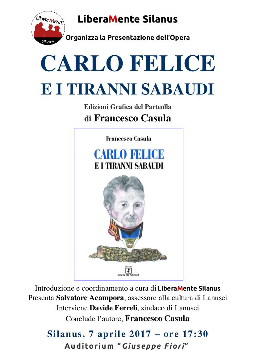 Locandina Carlo Felice e i tiranni sabaudi.2